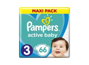 PAMPERS ACTIVE BABY ΜΕΓ 3 3X66 MAXI