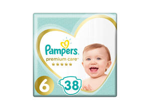 PAMPERS PREMIUM CARE NO 6 38 ΤΕΜΑΧΙΑ